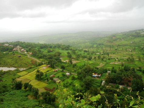 View from the Panhala Fort, Kolhapur : During one of my work trips